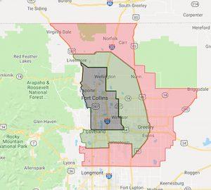 Spring Back Colorado Fort Collins map